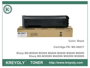 Cartouche de toner Sharp MX560FT CT pour MX-M364N M365N M464N M465N M564N M565N